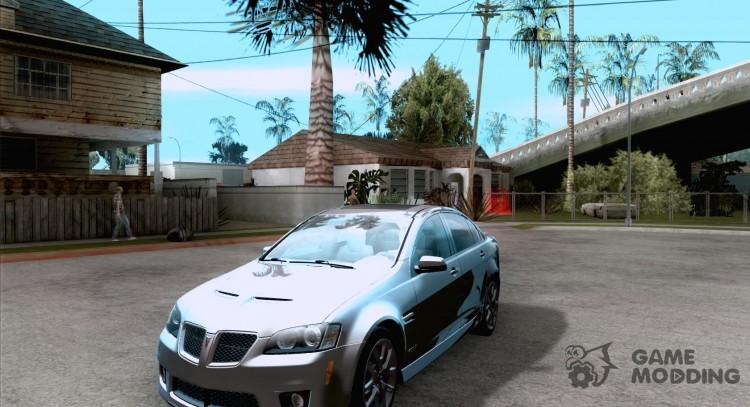 2009 Pontiac G8 GXP for GTA San Andreas