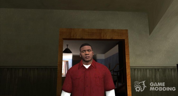 Franklin Red Shirt for GTA San Andreas