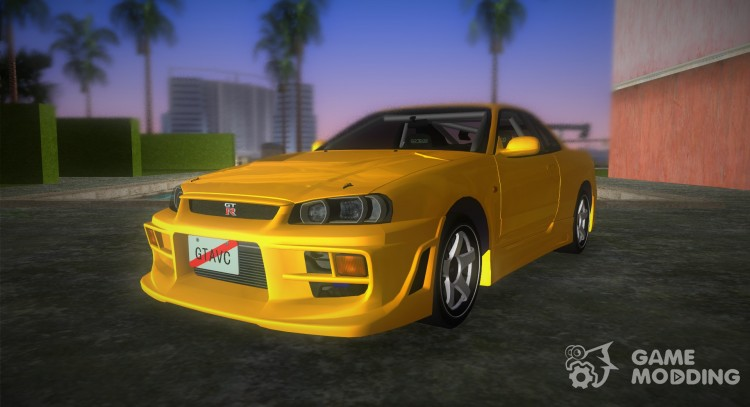 Nissan Skyline GTR R34 (Tuning 3) for GTA Vice City