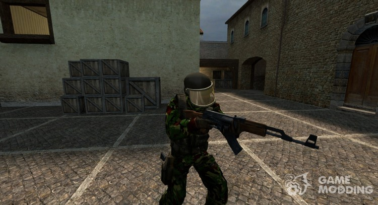 ОГНЖ британский Dmp Рескин для Counter-Strike Source