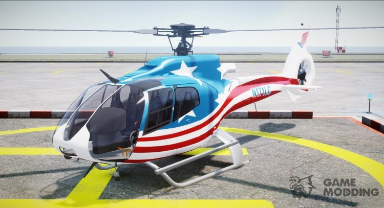 Eurocopter EC 130 B4 USA Theme for GTA 4
