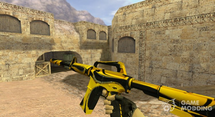M4A1 Yellow jacket for Counter Strike 1.6