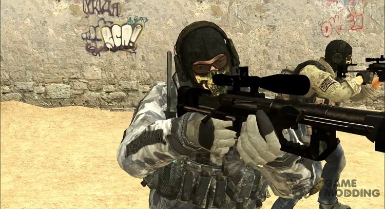 Snow Ghost from COD MW2 for Counter-Strike Source