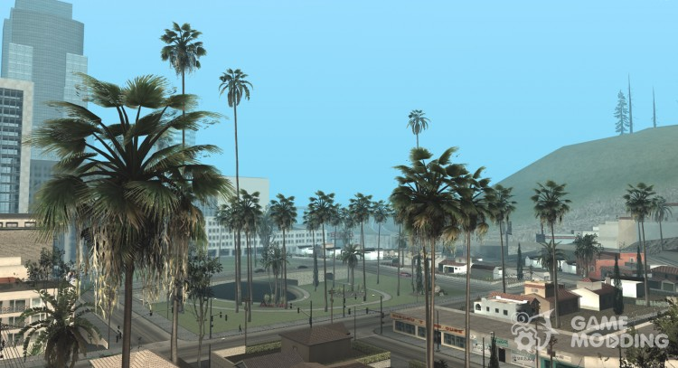 Insanity Vegetation Light and Palm Trees From GTA V (For Weak PC) для GTA San Andreas