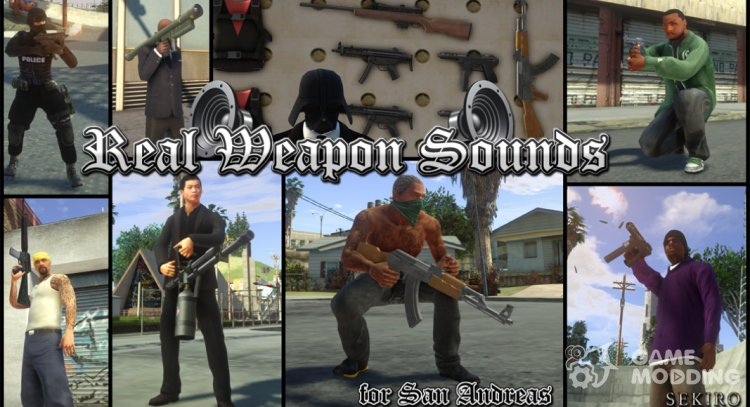 Real Weapon Sounds for GTA San Andreas