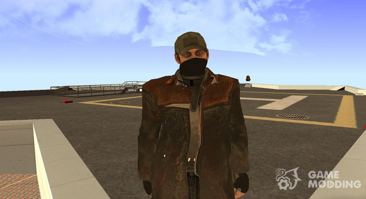 Aiden Pearce from Watch Dogs для GTA San Andreas