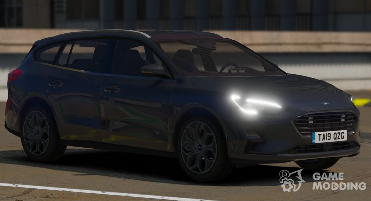 2019 Police Unmarked Ford Focus Wagon for GTA 5
