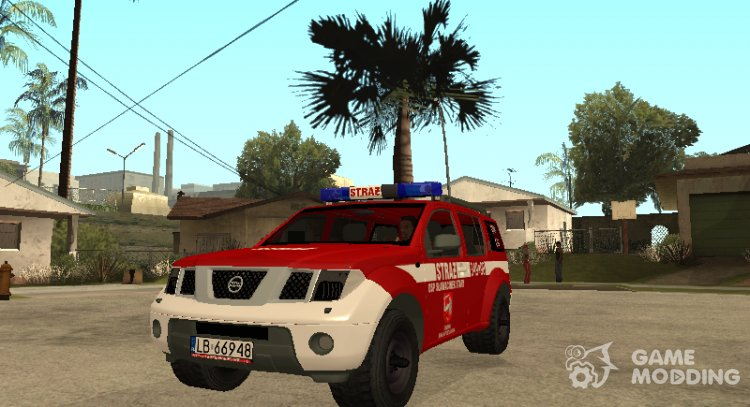 Nissan Pathfinder fire Department for GTA San Andreas