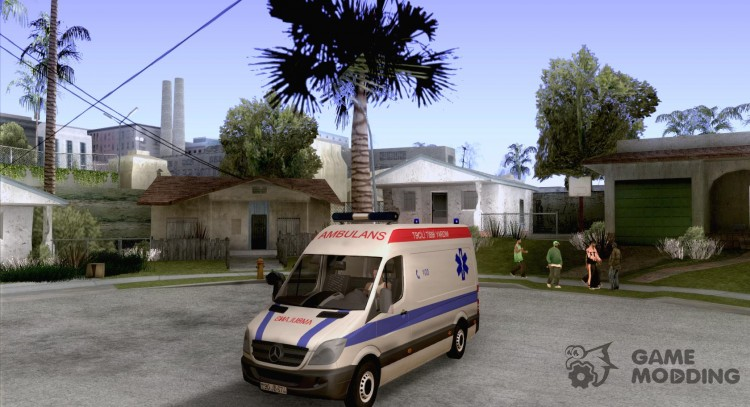 Mercedes-Benz Sprinter Baku Ambulans для GTA San Andreas