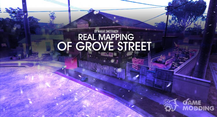 Real Mapping Of Grove Street