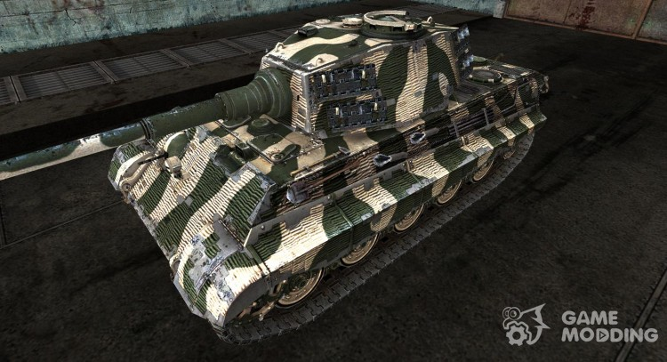 Skin for Panzer VIB Tiger II Green for World Of Tanks