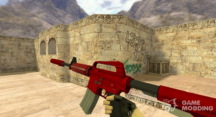 M4A1 Hot rod for Counter Strike 1.6