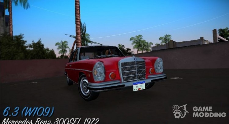 Mercedes-Benz 300 SEL 6.3 (W109) 1967 for GTA Vice City