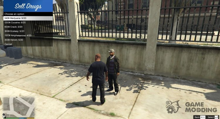 Drug Selling Mod (CLOSED) v0.5 for GTA 5