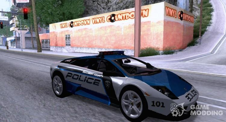 Lamborghini Murcielago Lp640 Police V1 0 For Gta San Andreas