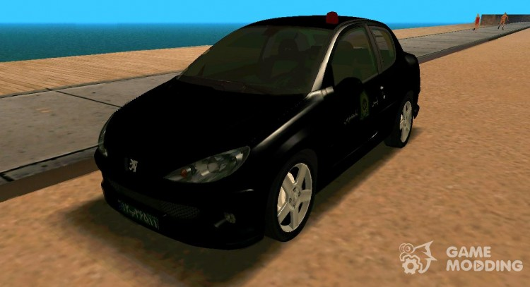 Peugeot 206 Coupe Police for GTA San Andreas