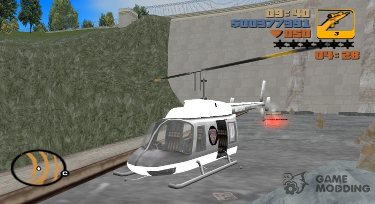 New police helicopter for GTA 3