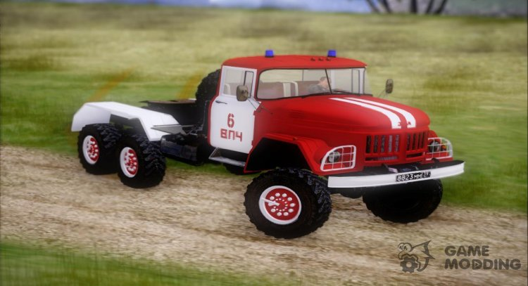 Fireman ZIL-131 Tractor for GTA San Andreas