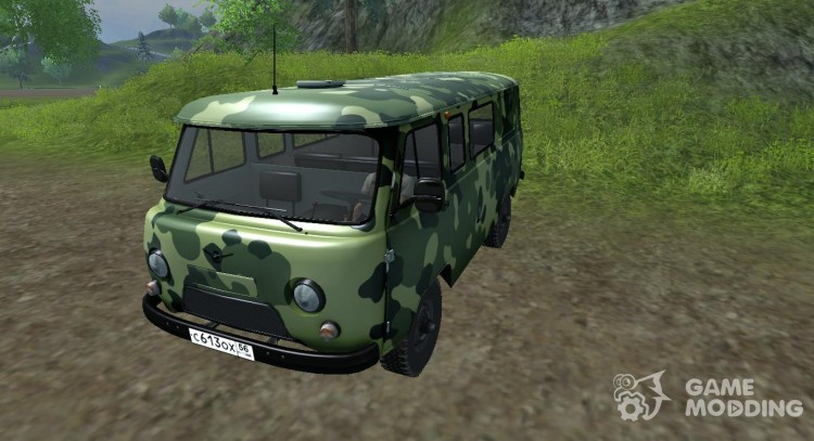УАЗ 3909 военный для Farming Simulator 2013