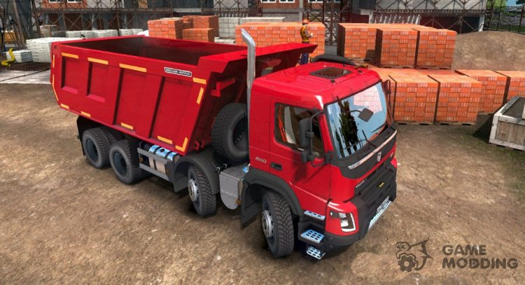 Volvo FMX 8x4 for Euro Truck Simulator 2