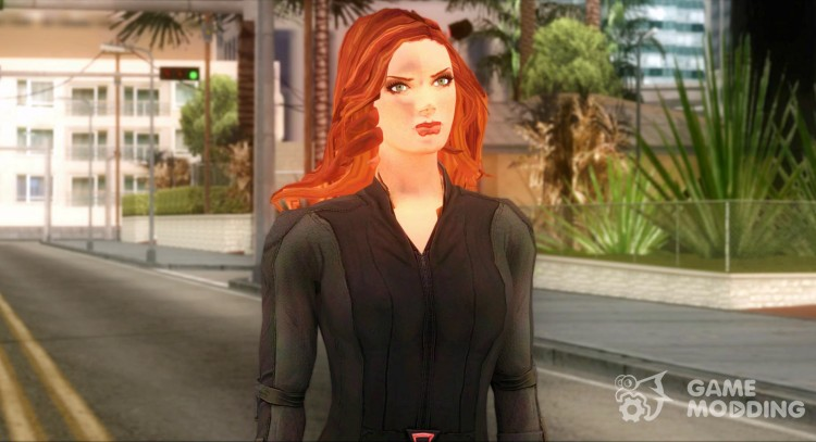 Captain America: Civil War Black Widow for GTA San Andreas