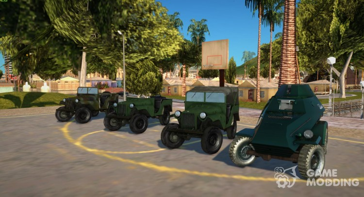 Pack of cars GAZ-64 for GTA San Andreas