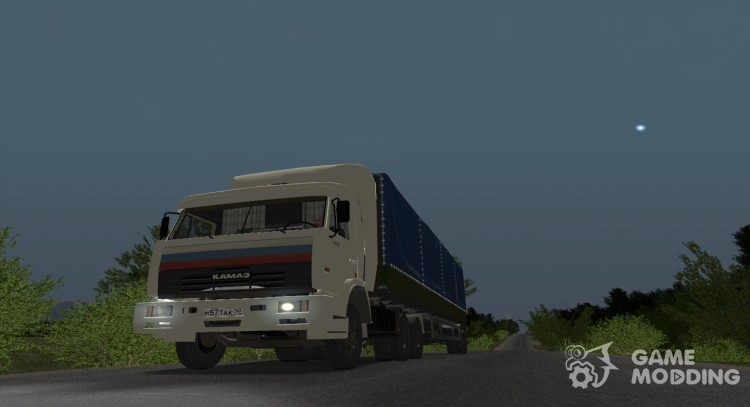 KAMAZ 54115 from truckers for GTA San Andreas