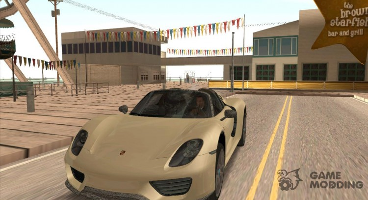 Porsche 918 Spyder Weissach Package 2015 для GTA San Andreas