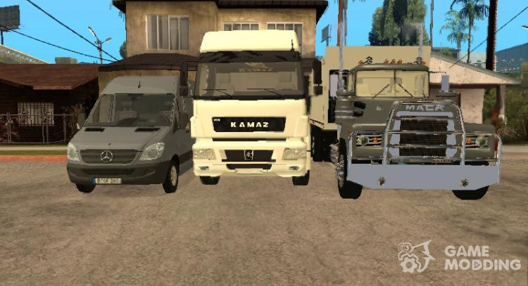 Great Pack of trucks from Drundik, a for GTA San Andreas