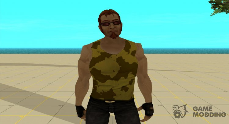 Postal dude in camouflage tank top 3 for GTA San Andreas