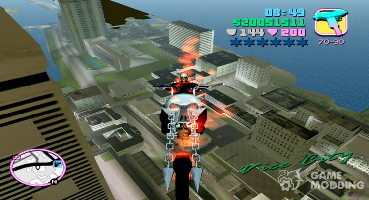Ghost Rider Mod for GTA Vice City