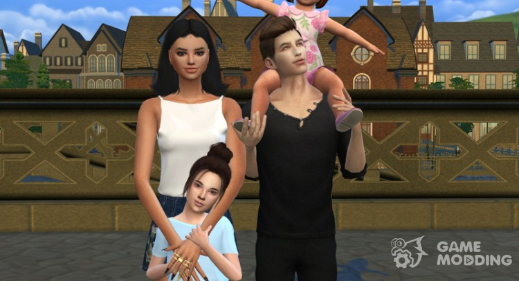 Family Photo Posepack for Sims 4