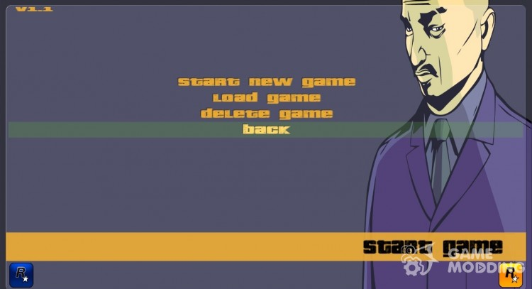 GTA III HD Menu (16:9) для GTA 3