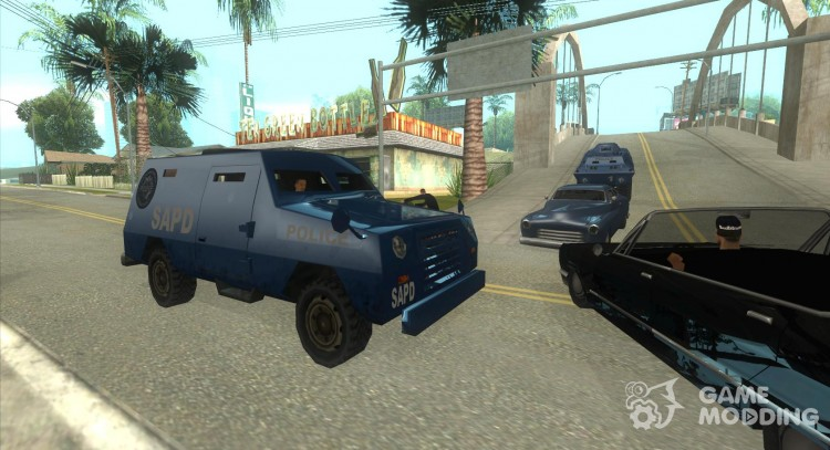 And the FBI S.W.A.T. Truck ride through the streets of for GTA San Andreas