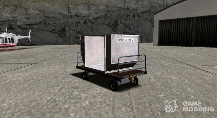 GTA V Airport Trailer (VehFuncs) (Bagbox B) for GTA San Andreas