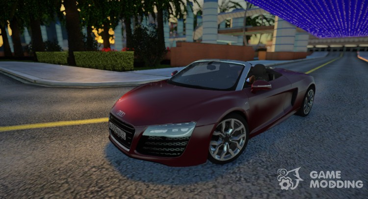 Audi R8 V10 Spyder for GTA San Andreas