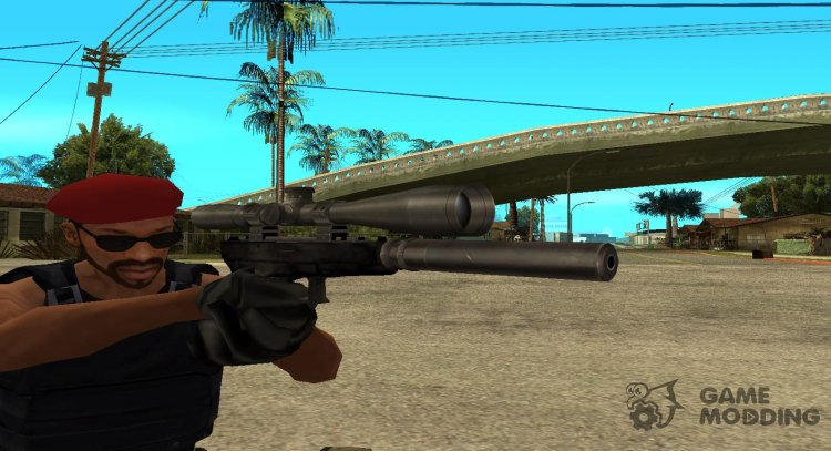 Beta silenced with scope for GTA San Andreas