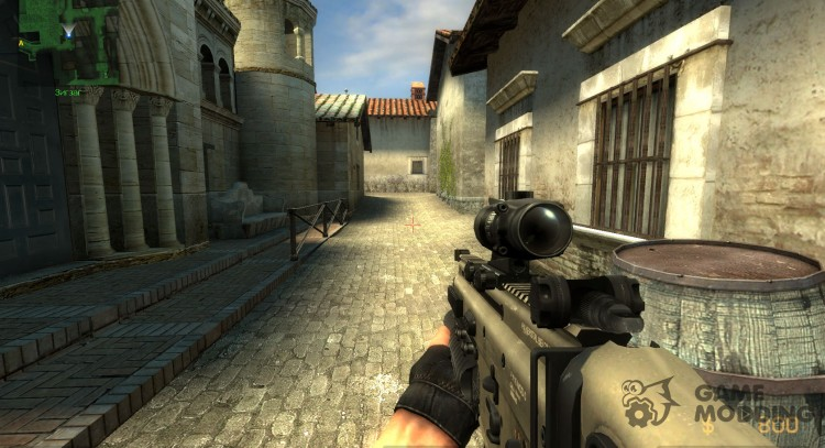 Fn Scar Acog M203 for AUG for Counter-Strike Source