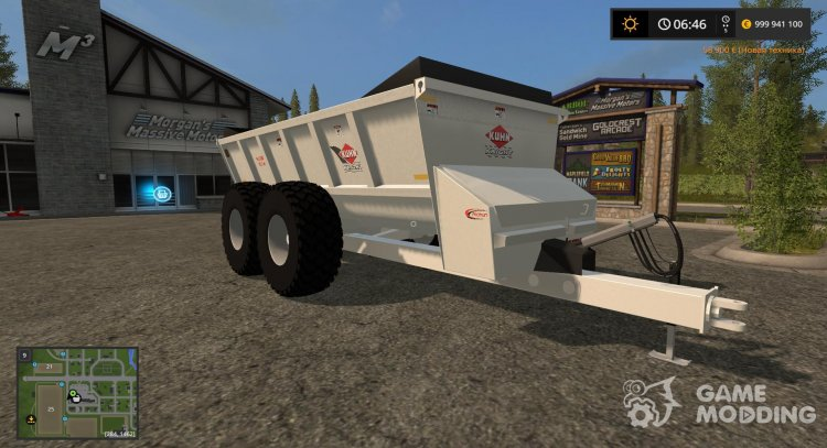 Knight SLC 141 manure spreader v1.0 for Farming Simulator 2017