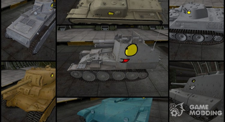 Pak skins Tankomul′t for World Of Tanks