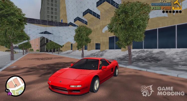 Acura NSX 1991 for GTA 3