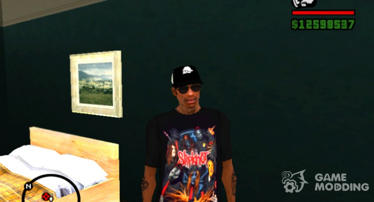 Slipknot T-shirt for GTA San Andreas