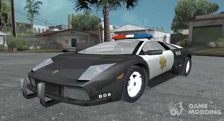 Lamborghini Murcielago Police For Gta San Andreas