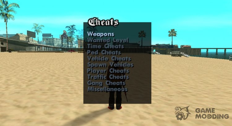 Cheat Menu v5 (PC) New Features for GTA San Andreas