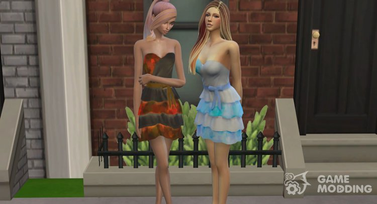 Love Me Dress for Sims 4