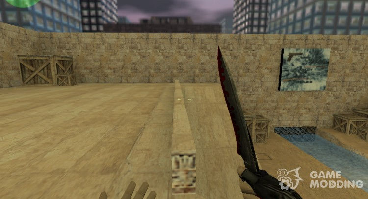 Red knife для Counter Strike 1.6