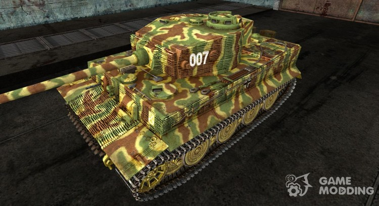 Skin for the Panzer VI Tiger (historic Skin) for World Of Tanks