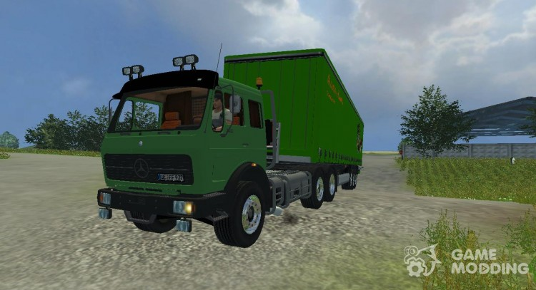 Mercedes-Benz NG 1632 and trailers for it for Farming Simulator 2013