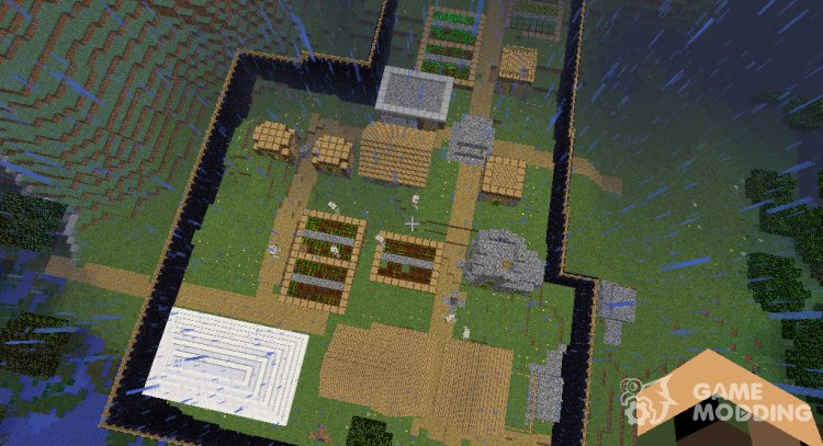 Protected village for Minecraft