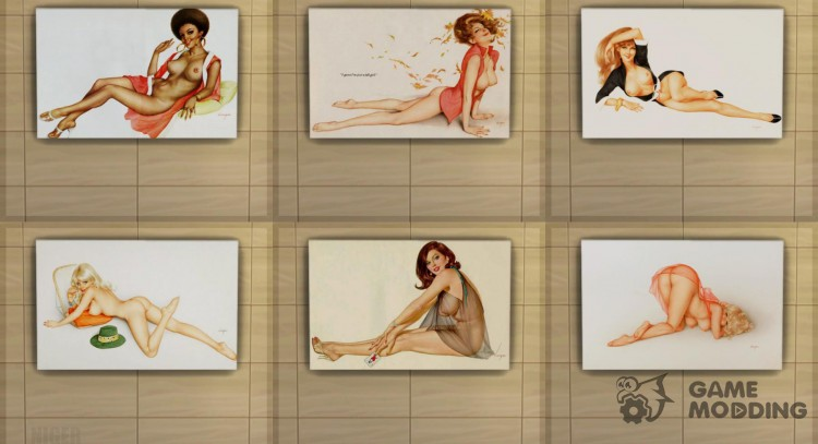 Pictures Erotica-Vargas Pin Ups for Sims 4